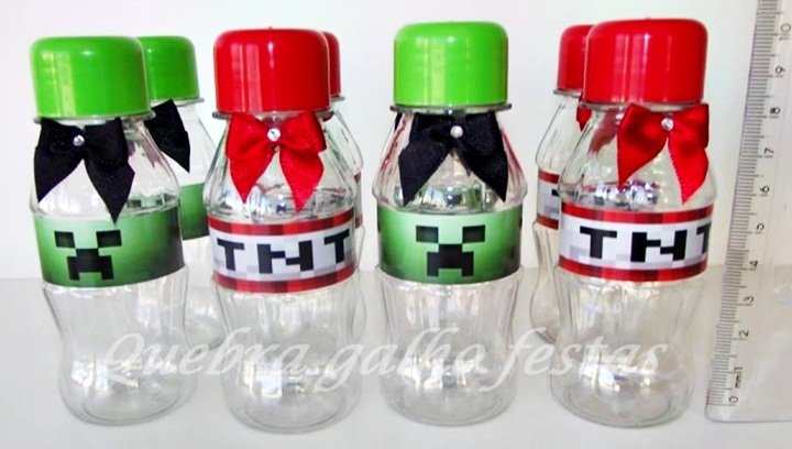 LEMBRANCINHAS MINECRAFT TNT, MINI COCA MINECRAFT TNT