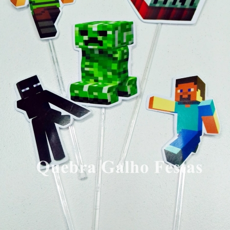 topper doces minecraft doces