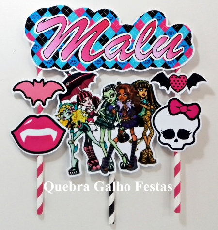 Monster High Topo de Bolo