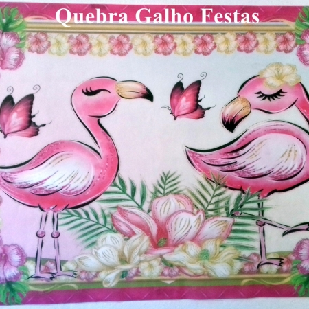 Flamingo Tropical Painel TNT